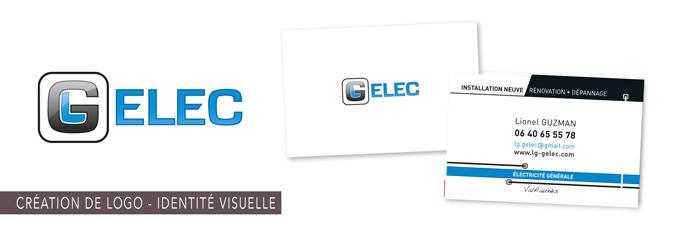 création de logo GELEC électricité générale