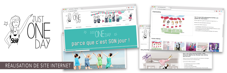 Réalisation du site internet just-oneday.fr, évènements, anniversaire, evjf, danse