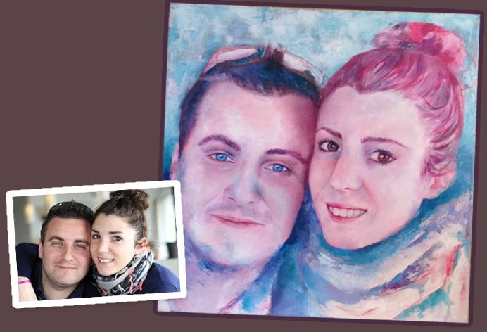 Commande de peinture, d'après photo, acrylique, huile, pastel, aquarelle