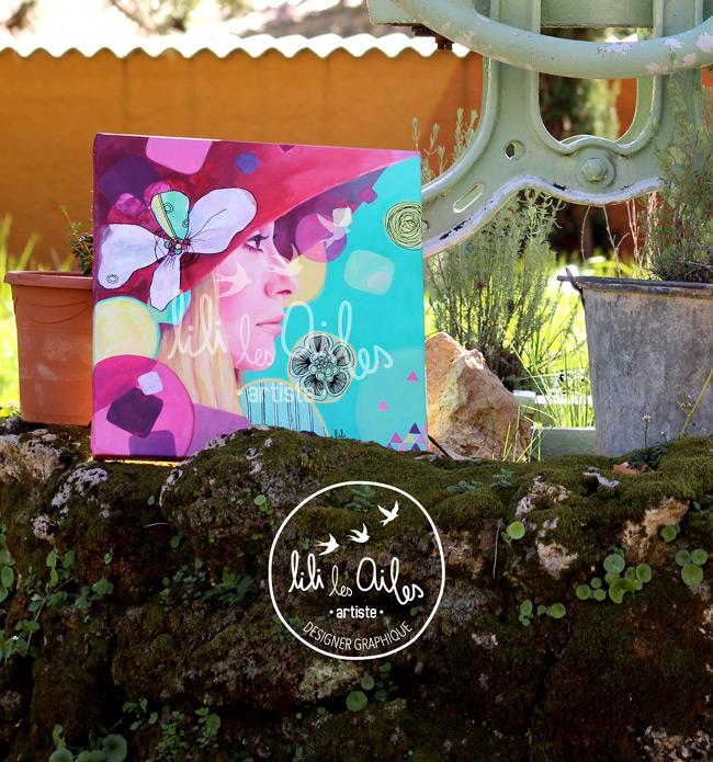 Catherine Deneuve - Acrylique sur toile