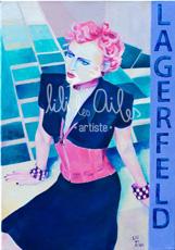 Peinture - Acrylique sur toile - Mode - Lagerfeld - Haute couture