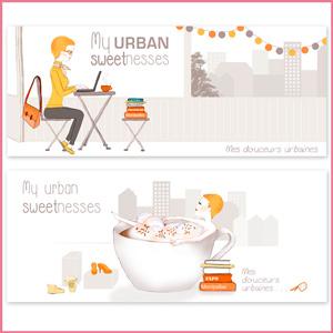 Illustration de bannières blog, lifestyle