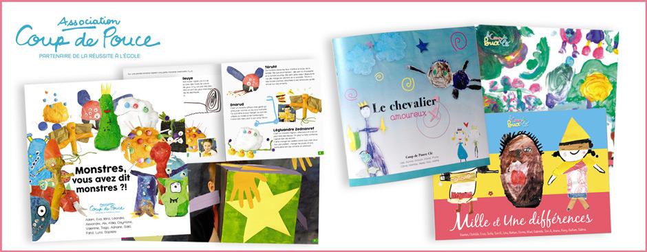 Projets de livre illustré réalisé par des enfants, atelier lili les ailes, illustratrice, plasticienne, graphisme, mise en page