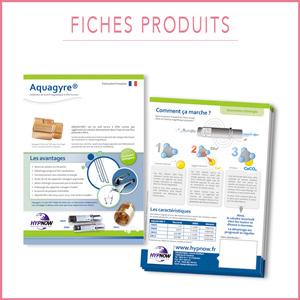 Créations graphiques, fiches produits, Aquagyre, illustrations