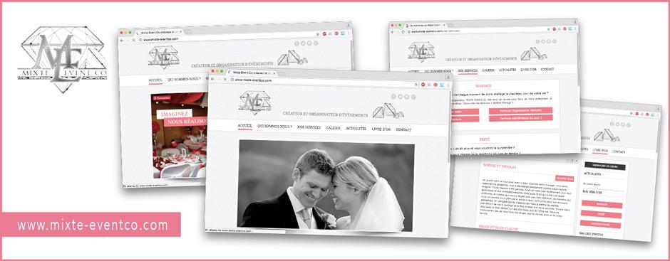 Créations du site web mixte-eventco.com , graphisme, webdesign, ergonomie, arborescence