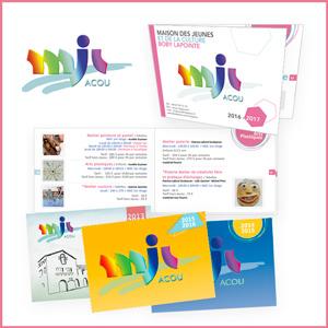 Réalisation graphique brochure MJC Boby Lapointe Jacou, guide des activités sportives et artistiques