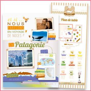 Illustration Plan de table, mariage, wedding, patagonie, noces, affiche