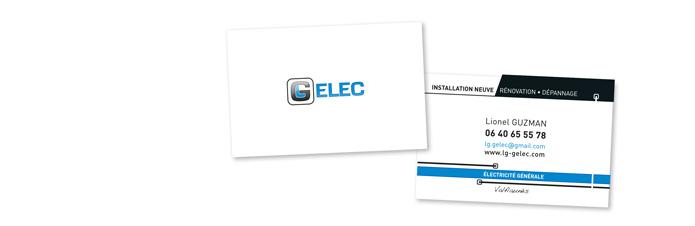 création graphique carte de visite Gelec électricité